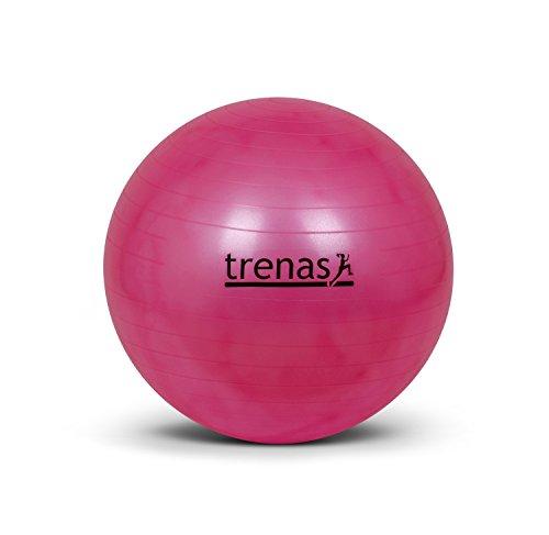 Ballon de gymnastique 55 cm - anti-éclatement - avec pompe - rose vif