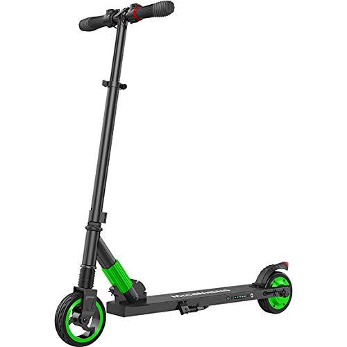 Megawheels Monopattino Elettrico, E-Motorino scooter pieghevole ultraleggero da 250W Velocità massima del motore fino a 23KM/H per adulto, Ragazzi (Verde)