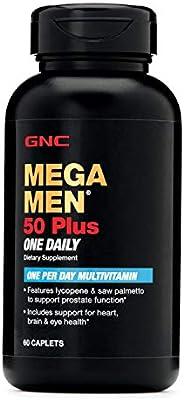 GNC Mega Men 50 Plus One Daily Multivitamin - 60 Caplets