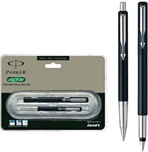 Parker Vector Standard Ct Fountain Pen & Ball Pens Gift Set (Black)