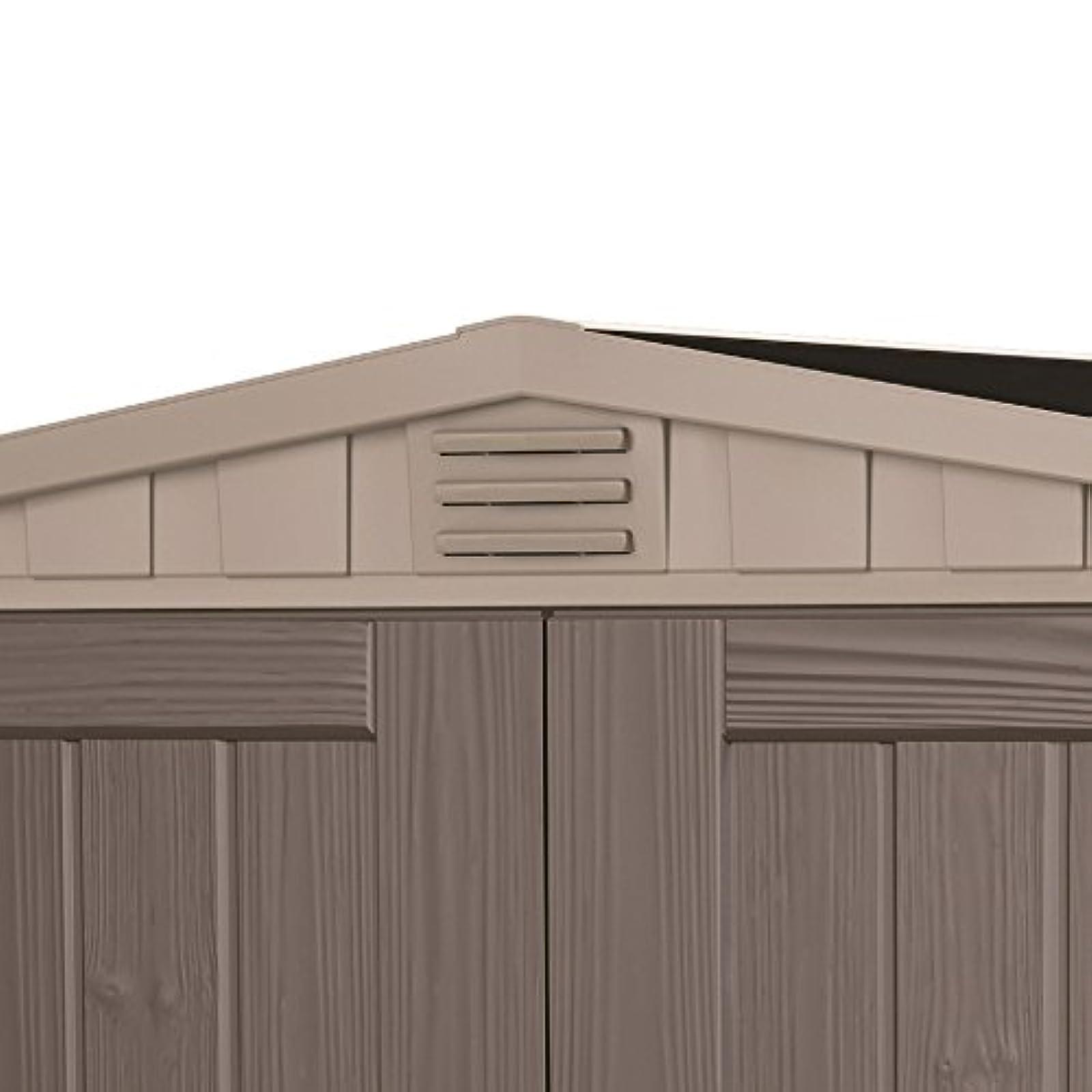 keter factor plastic outdoor garden storage shed fade