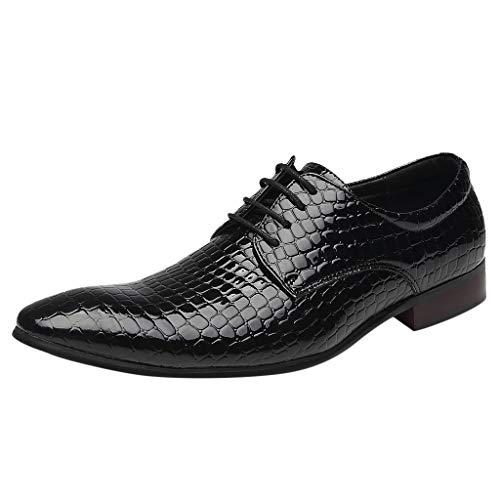 ODRD [EU35-EU49] Schuhe Shoes Herren Business Atmungsaktive Lederschuhe Spitzen Riemen Plaid Wildlederschuhe Sneaker Wanderstiefel Combat Hallenschuhe Worker Boots Laufschuhe Sports (Ox-basketball-schuhe)