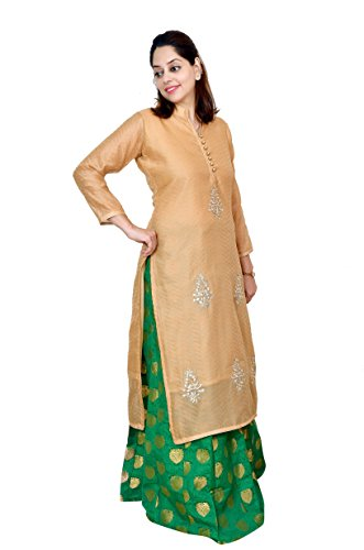 Kieana Women Cotton kurti With elegent Gotta-Patti work And Stand Color| Designer Trending Casual Party Wear Kurta | Attractive and Beautifull Bollywood Style Kurtis For Woman | Latest Collection Of Premium High Quality Ethnic Wears For Girls Ladies