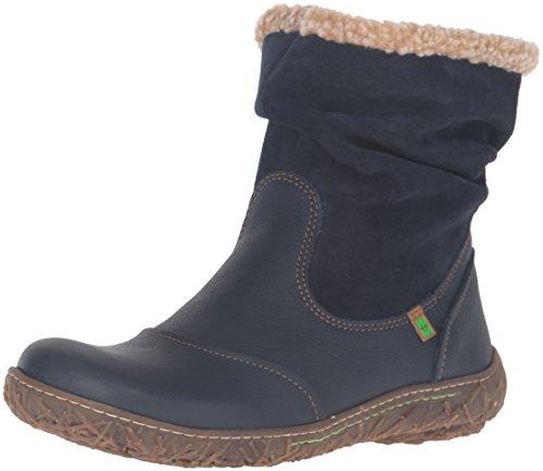 El Naturalista N758 Soft Grain-Lux Suede Nido, Stivali a Gamba Larga Donna, Blu (Ocean Nnf), 40 EU