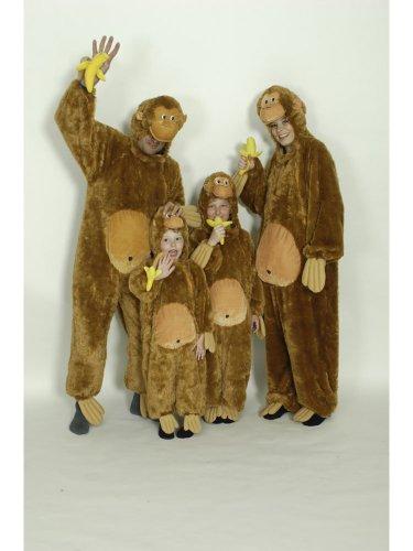 Kostüm für Kinder Overall Affe Gr.140-152
