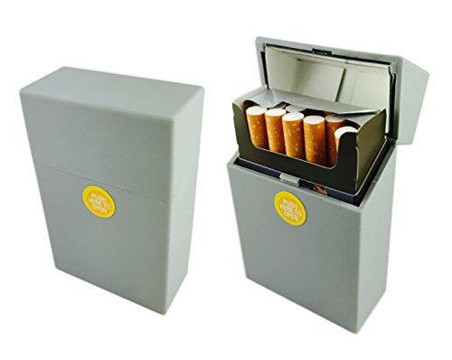 Offre Lagiwa - Etui à paquet de 20 cigarettes couleur au choix avec 1 cadeau bonus (Gris mat)