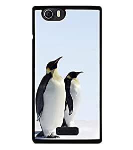 Penguins Pair 2D Hard Polycarbonate Designer Back Case Cover for Micromax Canvas Nitro 2 E311