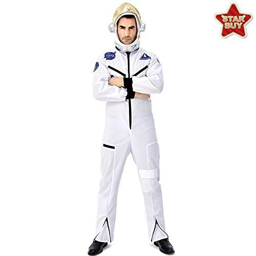 COSOER Mutter-Kind-Astronaut Cosplay Spacesuit White Space Pilot Uniform Für Halloween-Kostümparty,White-AdultM