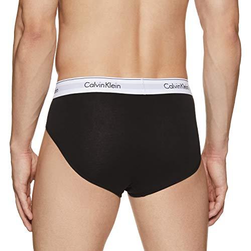 Calvin Klein Men's Plain Brief (NB1890001_Black_L)