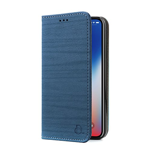 IPhone X PU Leather Case, Dingrich iPhone X Wallet Case Cover with...