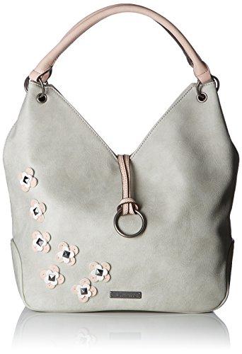Tamaris Damen Luna Shoulder Bag Schultertasche, Grau (Light Grey Comb), 10x44x44 cm -