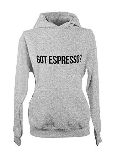 Got Espresso Coffee Komisch Cool Damen Hoodie Sweatshirt Grau Large (Kleidung Espresso Hoodie)