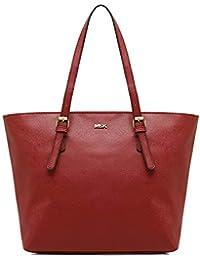 MISAKO Bolso Shopper de mujer ASIAN | Bolso Tote de Hombro espacioso | Bolso grande shopping Universidad, Trabajo y Diario - 29x45x15cm