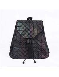 cea86d3ba2a78 Damen Luminous Rucksäcke weiblich Mädchen Daily Geometry Paket Pailletten  Falttasche Schulranzen Small…