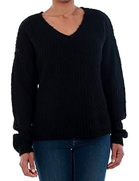 Jersey Vero Moda Mujer Negro 10192791 VMMOLLIE LS V-NECK BLOUSE LTG BLACK