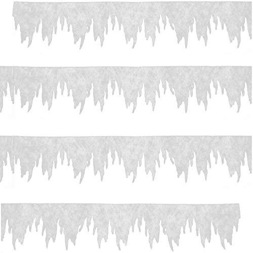 com-four® Eiszapfen Girlande als Weihnachtsdeko - Fensterbilder Weihnachten - Eiszapfen Winterdeko für Fenster und Türen (01 Stück - Girlande Mini)