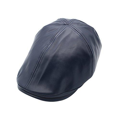 0fb6962f3ce10 JEDAGX PU Mens Flat Caps Irish Hunting Newsboy Hat 56-58 CM