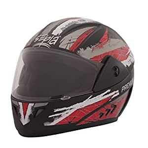 Sepia Premium Rider Full Face Graphic Helmet (Black and Red, M)