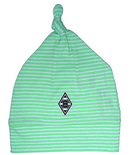 Baby Mütze Bommel weiß grün Borussia Mönchengladbach (Baby Fußball Hut)