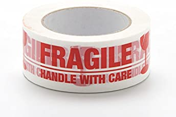 Wonder Cello Tape (Handle with Care Fragile Tape Printed) 2 inch/48mm x 65 metres - Pack of 1