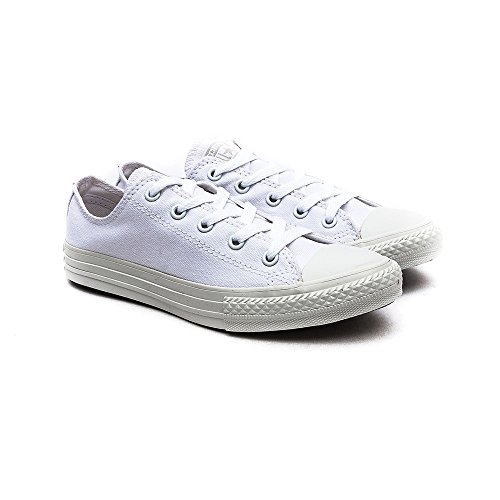 Converse Chuck Taylor All Star Wash Neon Ox, Baskets mode mixte enfant bianco(White Monochrome)