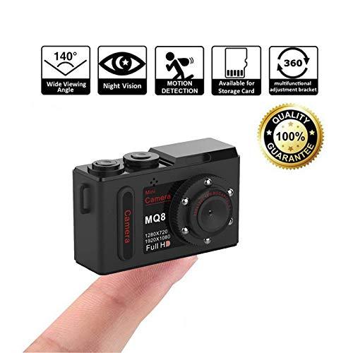 Nachtsicht-Mini-Kamera,Zeerkeer Action Kamera 720P-Video M-JPEG HD 1080P Klein, leicht und leicht zu tragen Sport Kamera Fahrrad/Motor Fahraufnahme Helmkamera【Keine Speicherkarte】(schwaz) -