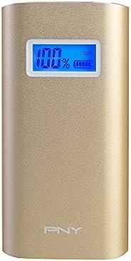 PNY AD5200 Power Bank Batteria Esterna Universale Portatile per Smartphone, 5200 mAh, Oro