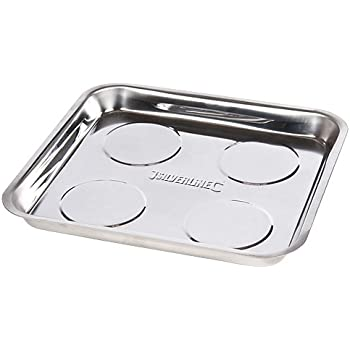 Silverline 95 x 65mm Magnetic Tray Set 4pce