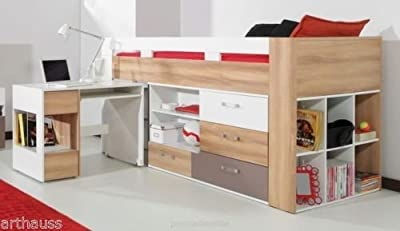 Brand New Kids Children Bedroom Bed BLOG with Drawers and Pull Out Computer Desk sold by Arthauss
