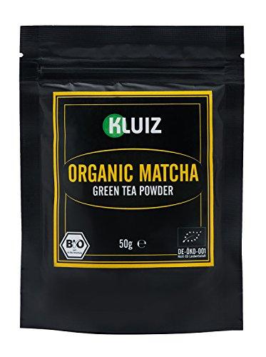 Bio Matcha Tee Pulver - Premium Grade von KLUIZ - MHD 31.10.2017 - aus kontrolliert biologischem Anbau ohne Zwischenhandel