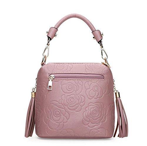 Handtaschen Geprägte Handtasche Mode Kleine Quadratische Paket Einfache Schulter Diagonale Paket Red
