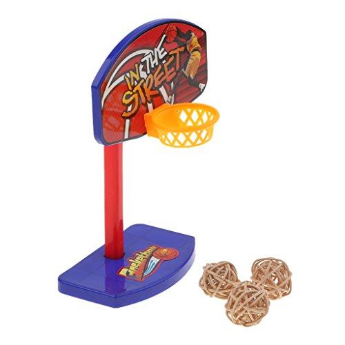 perfk Mini Basketball Spielzeug Set für Vögel/Papageien/Wellensittiche/Nymphensittiche/Finken/Kakadu/Ara/Graupapageien - Rattenball (Kakadu Spielzeug)