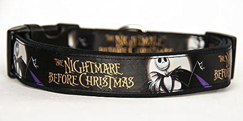 The Nightmare Before Christmas Jack Hundehalsband Handgemachte Größe L Ohne Hundeleine Dog Collar HandMade