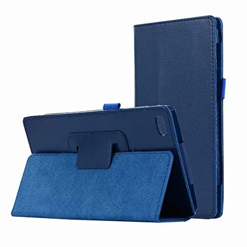 HereMore Cover Lenovo Tab 7 Essential, Slim Case Cover Custodia Portafoglio in Pelle con Porta Pennino e Supporto per Lenovo Tab 7304F / TB-7304X Tablet da 7'' Pollici, Blu Scuro