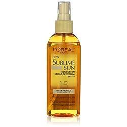 LOreal Paris Sublime Sun Advanced Sunscreen Oil Spray SPF 15, 5.0 Ounce