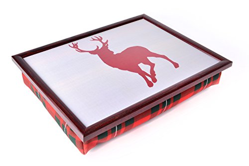 Preisvergleich Produktbild Ability Superstore - Luxuriöses Knietablett, Schottenmuster mit Hirsch