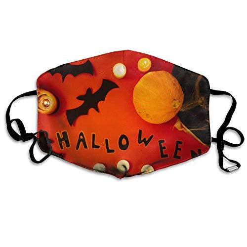 ppy Halloween Pattern Mouth Masks Unisex Anti-Dust Flu Washable Reusable Mouth Mask Fashion Design for Girls Women Boys Men ()