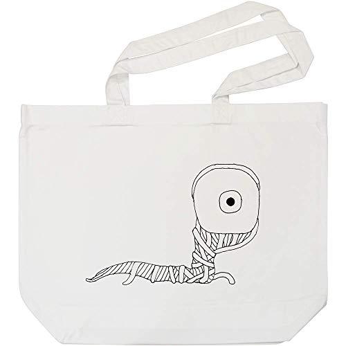 Azeeda 'Augapfel Wurm' Weiße Einkaufstasche (BG00001545)