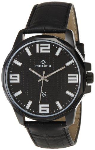 Maxima Attivo Analog Black Dial Men's Watch - 26023LMGB image