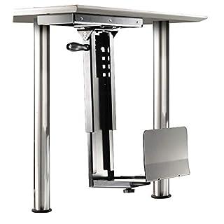 ROLINE PC Halterung   Untertisch Befestigung   Computer Halter   Tischhalterung drehbar   Silber