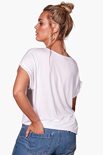"""Damen Schwarz Plus Lily Boyfriend-T-Shirt mit """"Dream Big""""-Print Schwarz"""