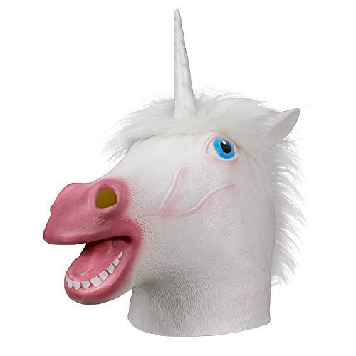 opf, gruselige Pferd Maske, Neuheit Deluxe Kostüm Latex Maske für Kostüm Party Halloween (weiß) ()