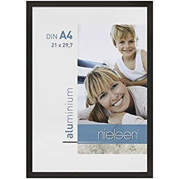 Nielsen 61801 C2 Cadre Photo Aluminium Brossé Noir Mat 29,7 x 21 x 2,8 cm