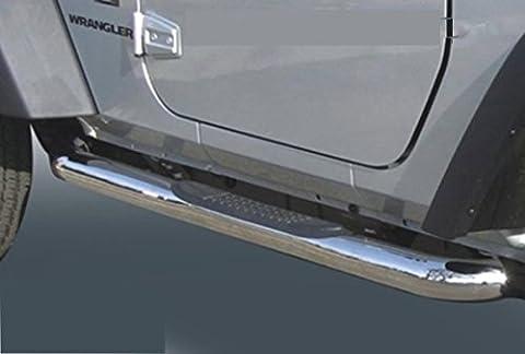 Marchepieds schweller tubes Jeep Wrangler TJ (1996–2006) Ø 76mm (en acier inoxydable) avec Certifié TÜV partie gutachten