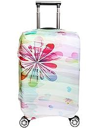 Protector de equipaje cubierta elástica maleta cubierta spandex equipaje cubierta protector SINOKAL para 18 20 22 24 26 28 30 32 pulgadas maleta (sólo cubierta)