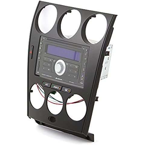 Doble DIN radio Blend para Mazda 6(Modelos hasta. 2007, color negro con compartimento también para radios de 1DIN