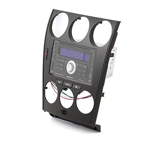 Watermark Vertriebs GmbH & Co. KG Doppel DIN Radioblend für Mazda 6 bis Bj. 2007, schwarz mit Fach auch für 1-DIN Radios geeignet - 6 Mazda Radio