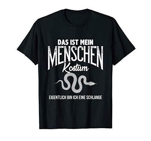 Halloween Menschen Kostüm Spruch Schlange Humor Shirt