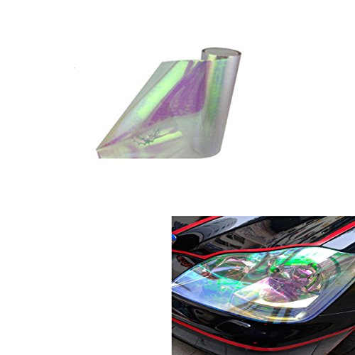 ABy 200cm x 30cm Scheinwerfer Folie Tönungsfolie Aufkleber für Auto Scheinwerfer Rückleuchten Blinker Nebelscheinwerfer(Transparent)