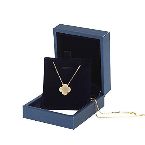 TREESTAR 1PCS Necklace Jewelry Box Gift Storage valentine' S DAY present Jewelery sorpresa di peluche per donne, Dunkelblau, 7.3*8.4*3.5CM